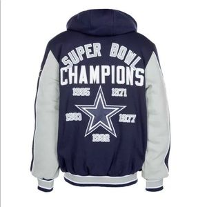 NFL Cowboys Commemorative Super Bowl Hoodie XL
